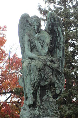 Photograph - Cemetery Statue 3 by Anita Burgermeister