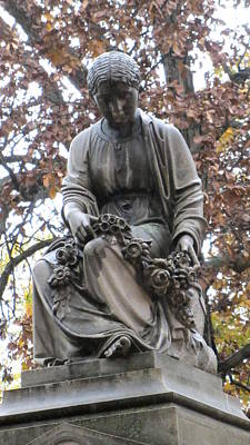 Photograph - Cemetery Statue 4 by Anita Burgermeister