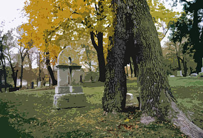 Art Print featuring the photograph Cemetery Tree by Kimberly Mackowski