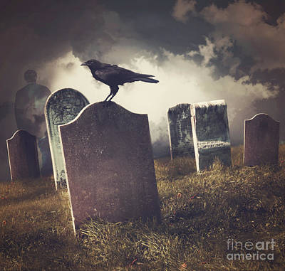 Photograph - Cemetery With Old Gravestones  by Sandra Cunningham