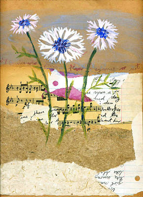 Music Score Mixed Media - Centaurea by Sorana Tarmu