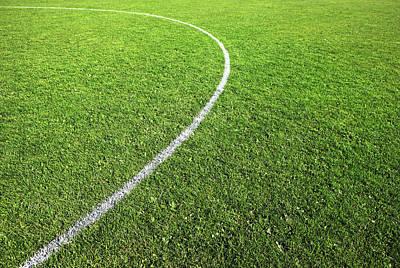 Center Circle On Football Pitch Art Print by Richard Newstead