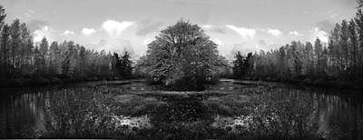 Photograph - Center Island Bw by Kathleen Grace