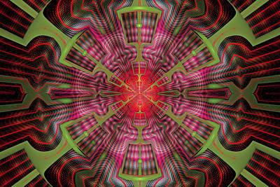 Digital Art - Center Point by Sandy Keeton