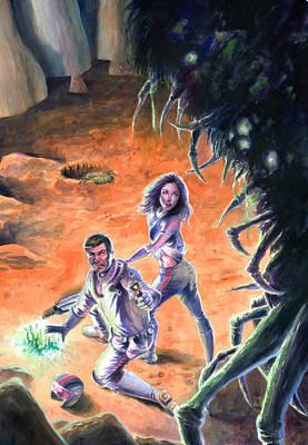 Monsters Painting - Centipede by Ken Meyer