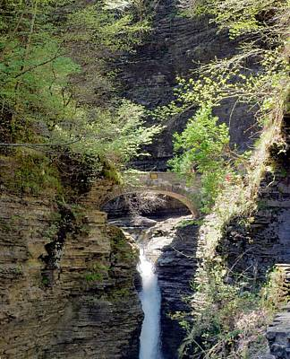 Photograph - Central Cascade Of Watkins Glen Two by Joshua House