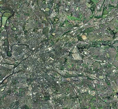 Central Manchester, Aerial View Art Print