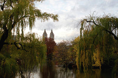 Print featuring the photograph Central Park Autumn by Lorraine Devon Wilke
