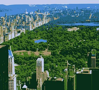 Central Park Color 6 Art Print