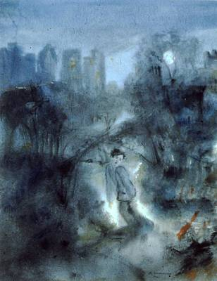Painting - Central Park Fear by Scott Cumming