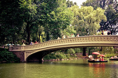 Central Park Romance - Bow Bridge - New York City Art Print by Vivienne Gucwa