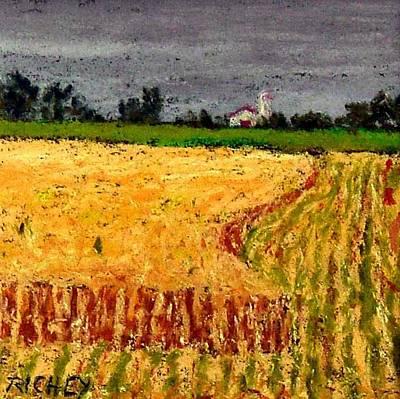 Central Pennsylvania Summer Wheat Art Print by Bob Richey