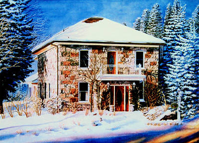 Of Our House Painting - Century Farmhouse Home by Hanne Lore Koehler