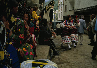 Crowd Scene Photograph - Cepni Women In Traditional Garb Gather by Randy Olson