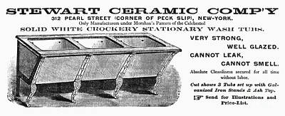 Ceramic Sink Advertisement Art Print by Granger