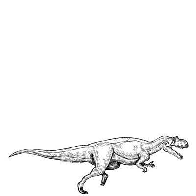Ceratosaurus - Dinosaur Art Print by Karl Addison