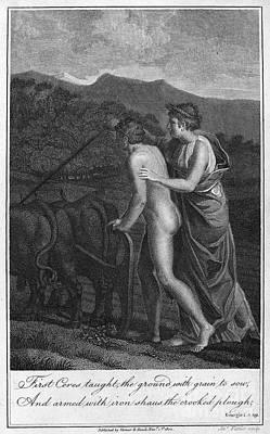 Ceres And Triptolemus Art Print by Granger