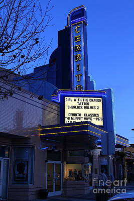 Cerrito Theater In El Cerrito California . 7d11035 Art Print by Wingsdomain Art and Photography