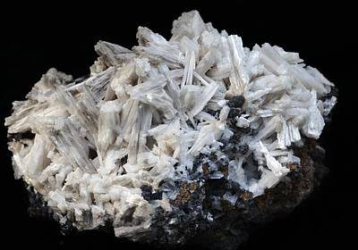 Fibrous Crystals Photograph - Cerussite by Dirk Wiersma