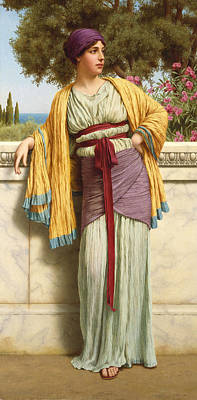 Shawl Painting - Cestilia by John William Godward