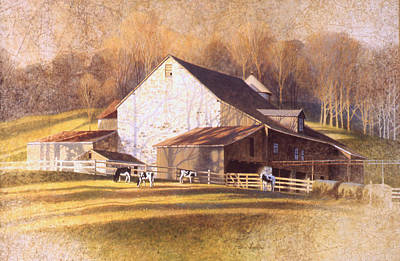 Painting - Chades Ford Barn by Tom Heflin