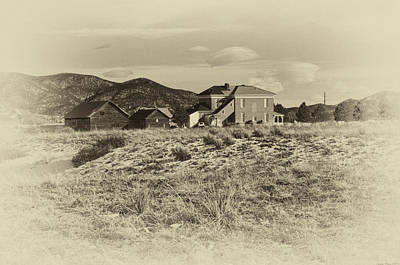 Photograph - Chaffee County Poor Farm Print by Charles Muhle