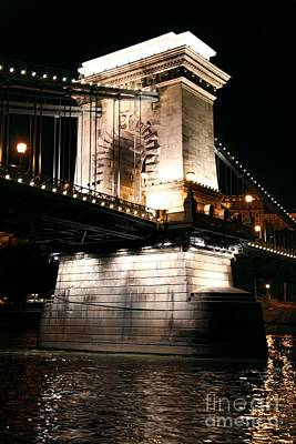 Budapest Tours Photograph - Chain Bridge At Night by Mariola Bitner