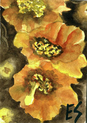 Painting - Chain Cholla by Eric Samuelson