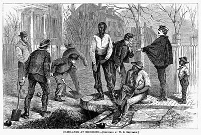 Chain Gang, 1868 Art Print by Granger