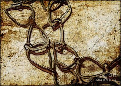 Chain Links Art Print by Judi Bagwell