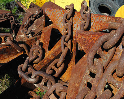 Chains And Anchors Art Print