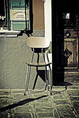 Paving Photograph - Chair by Joana Kruse