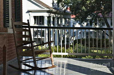 Rocking Chairs Photograph - Chair On Front Porch by Francis Zera
