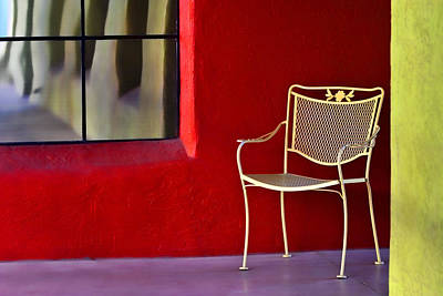 Rectangles Photograph - Chair On The Balcony by Carol Leigh