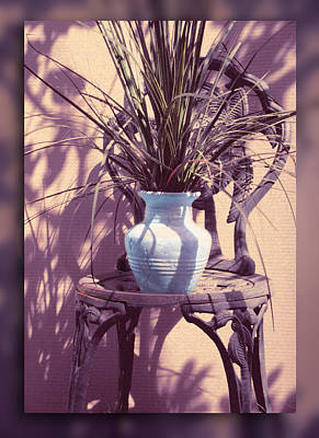 Photograph - Chair With Plant by Ginny Schmidt