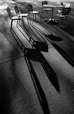 Chairs And Shadows Art Print by Steven Ainsworth