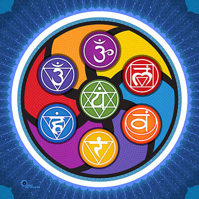 Digital Art - Chakra Circle by Soul Structures