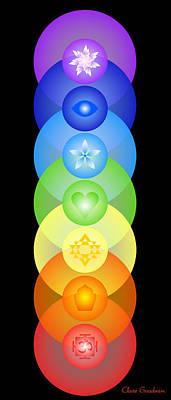 Chakra Rainbow Digital Art - Chakra Rainbow by Clare Goodwin
