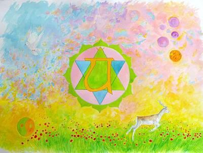 Liberation Painting - Chakra4 by Tamara Tavernier