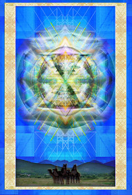 Digital Art - Chalice Star Over Three Kings Holiday Card Xbbrtii by Christopher Pringer