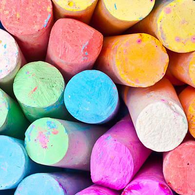 Crayons Photograph - Chalks by Tom Gowanlock