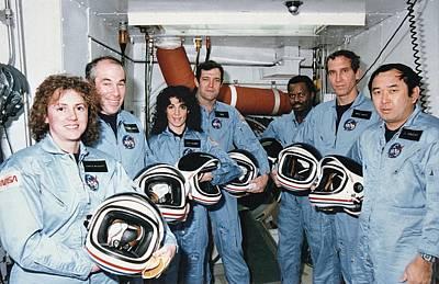 Challenger Crew In Training Art Print