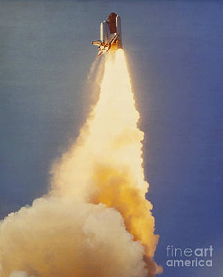 Challenger Lift-off Art Print
