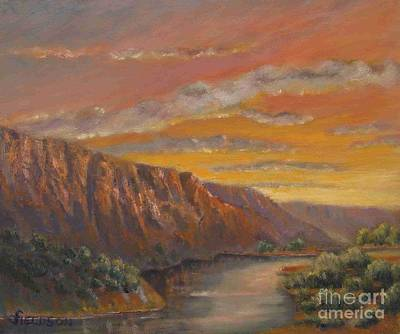 Chama River Painting - Chama River Canyon by James Fieldson