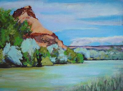 Chama River Painting - Chama River Outside Abiquiu by Richard  Willson