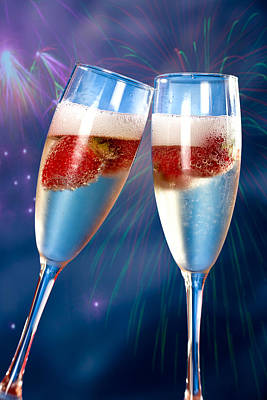 Photograph - Champagne And Strawberry by Juan Carlos Ferro Duque