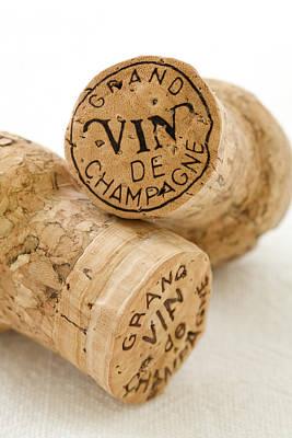Champagne Corks Art Print by Frank Tschakert