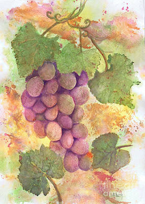 Painting - Champaign Vineyard by Audrey Peaty