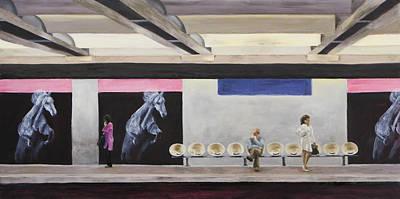 Champs Elysees Painting - Champs Elysees by Vianne Korhorn