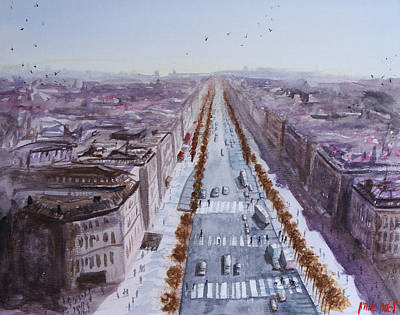 Painting - Champs Elysees View by Lior Ohayon